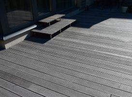 Egzotinės medienos terasa prieš atnaujinimą