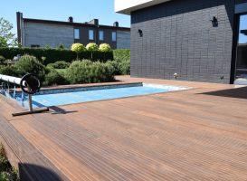 Termo uosio terasa po atnaujinimo - terasos plovimas, alyvavimas