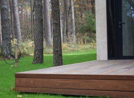 Terasa iš egzotinės medienos