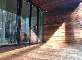 Egzotinė mediena. Terasa - stoginė