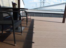 GAMRAT kompozitinė terasa sumontuota ant stogo