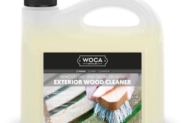 Woca medinių terasų ploviklis